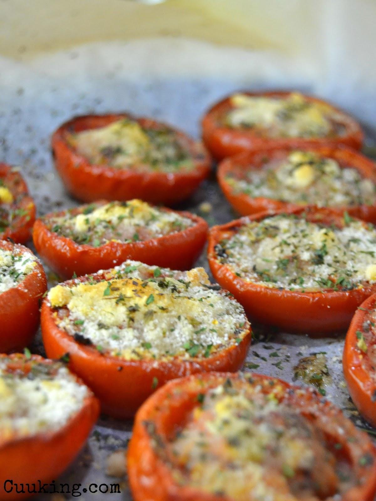 Tomates asados con parmesano cuuking recetas de cocina - Comidas para cenar rapidas ...