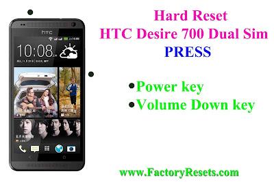 Hard Reset HTC Desire 700 Dual Sim