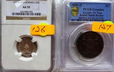 British North Borneo 1 Cent 1886H (Lacquer or Tape)