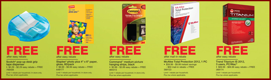 Mom For A Deal Staples Free Products After Easy Rebates