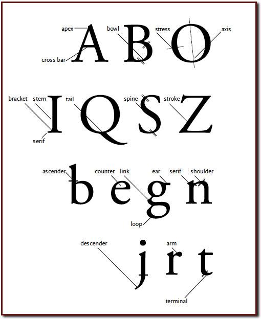 typography katie turner type glossary