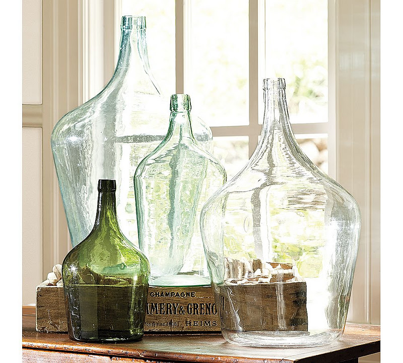 Lalaberidesign: Decorating With Vintage Bottles