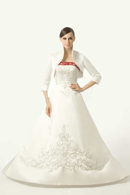 White satin wedding jacket