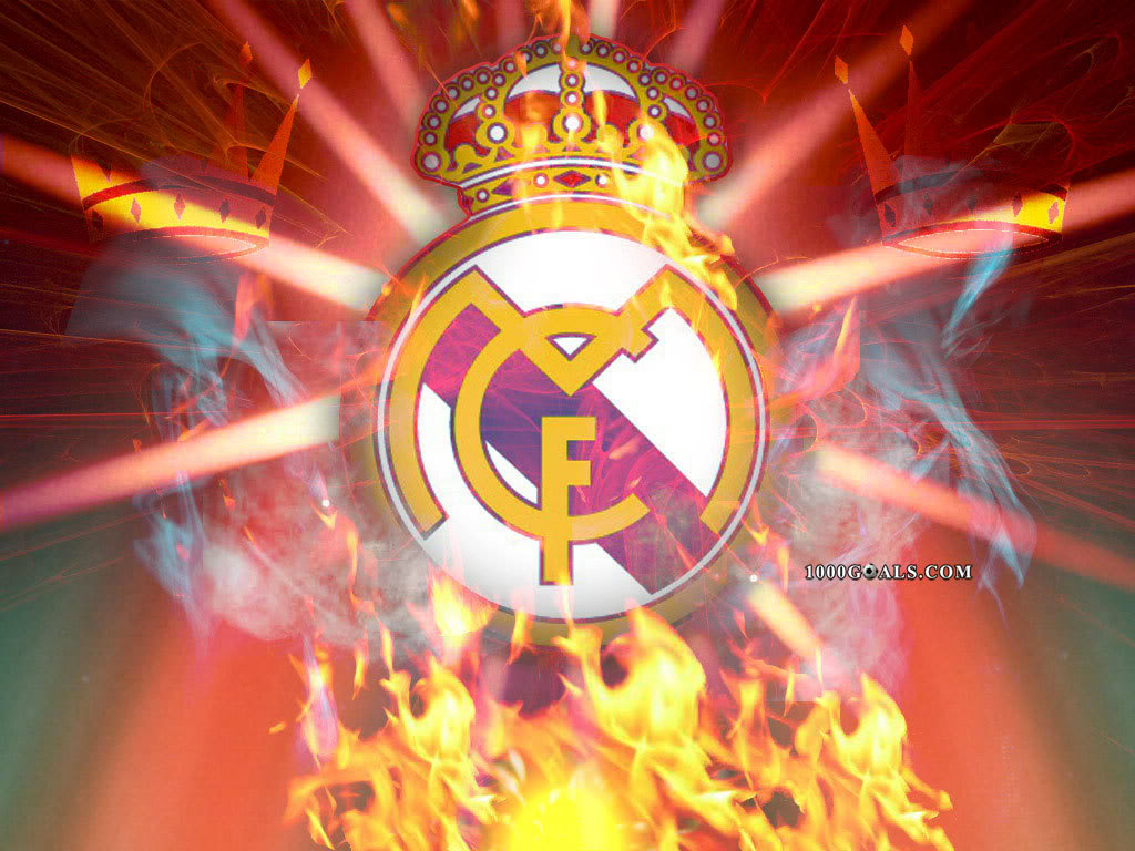 Real Madrid Logo Fire