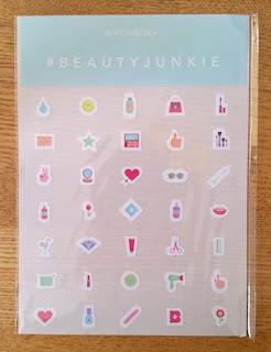Birchbox #BeautyJunkie August 2015 box stickers