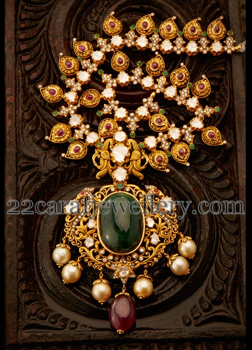 Exclusive Gold Necklace By Aabhushan Jewellery Designs