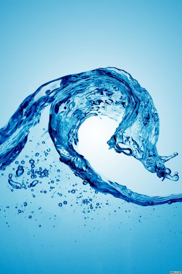 Water Swirl 3d Iphone Wallpaper