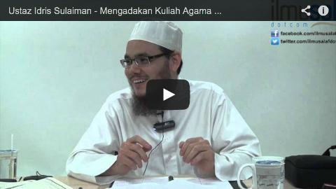 Ustaz Idris Sulaiman – Mengadakan Kuliah Agama di Tempat Orang Kaya