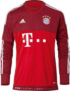 Jersey kiper Bayern Munchen away terbaru musim depan 2015/2016