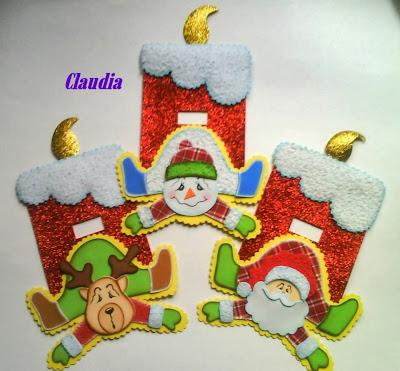 Lindas manualidades adornos para puerta navide os - Detalles navidenos caseros ...