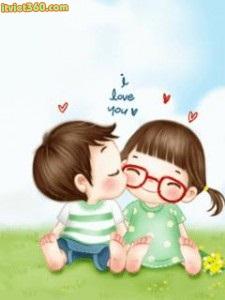 Ảnh hoạt hình tình yêu đẹp dễ thương