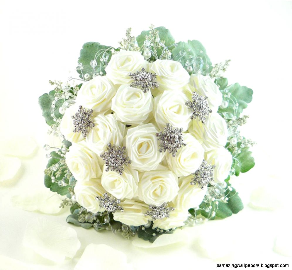 Ice Crystal Wedding Bouquet Bridal Bouquet by TheWhiteBouquet