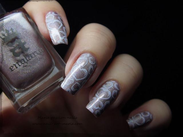 Nail art coeurs stampés8