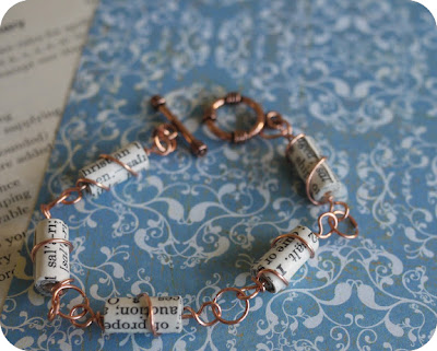 Bead It and Weep Jewellery Making Blog | Copper and Paper Bracelet