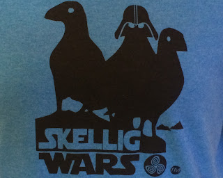 Skellig Wars t-shirt. Photograph by Janie Robinson, Travel Writer