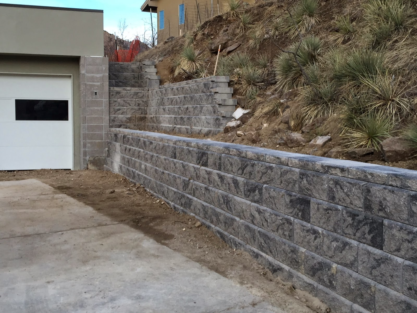 how to build a retaining wall on a hillside
