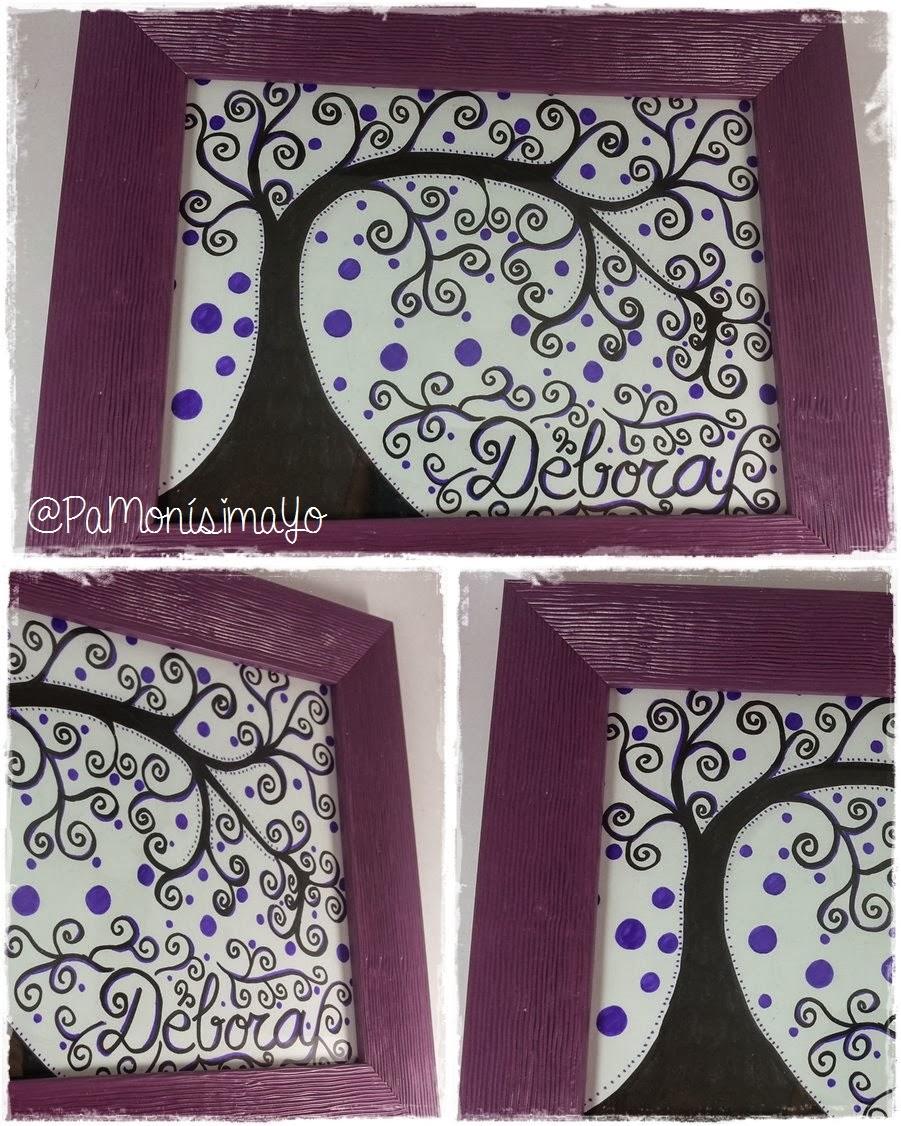 ilustración árbol con marco @pamonisimayo