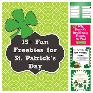 St. Patrick's Day Freebies www.amodernteacher.com