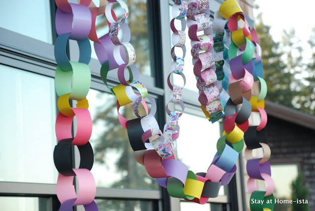 how to make rainbow paper chains