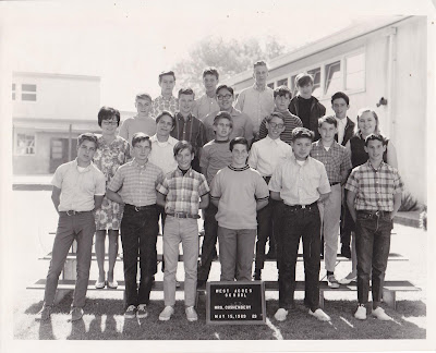 "West Acre School ""Mrs. Cushenberry's 8th Grade Class"" 1969"