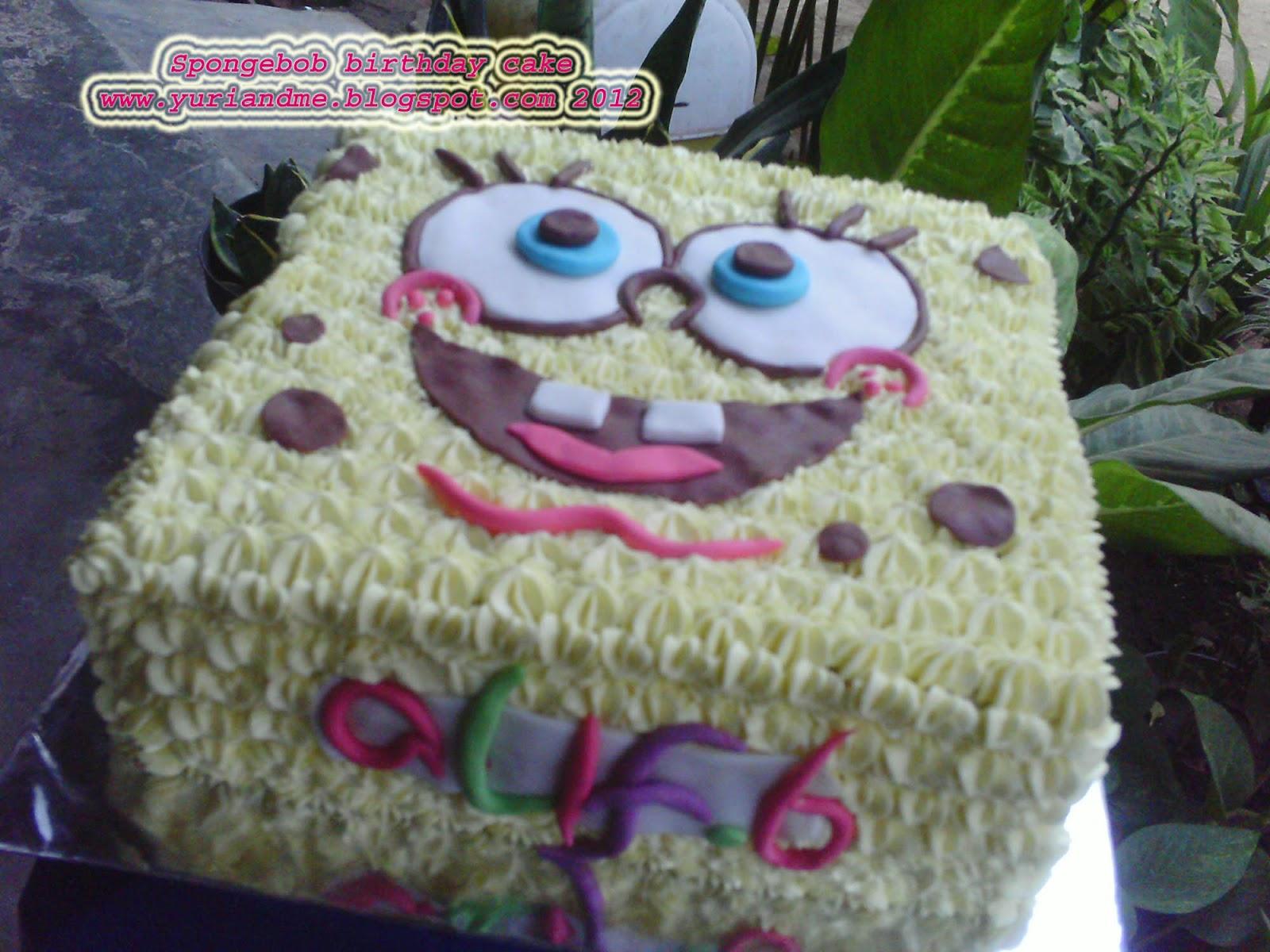 Dapur Yuri Online Cake Shop Spongebob Squarepants