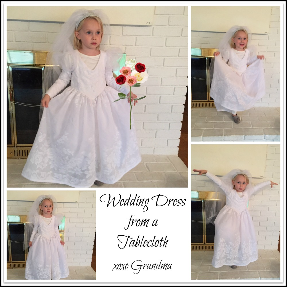 Wedding Dress Costume From A Tablecloth