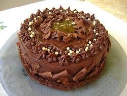 Torta de chocolate/Creme de maracujá