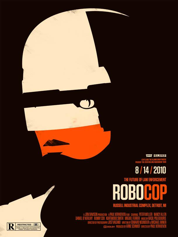 Posters de Cinema minimalistas - Olly Moss - Robocop
