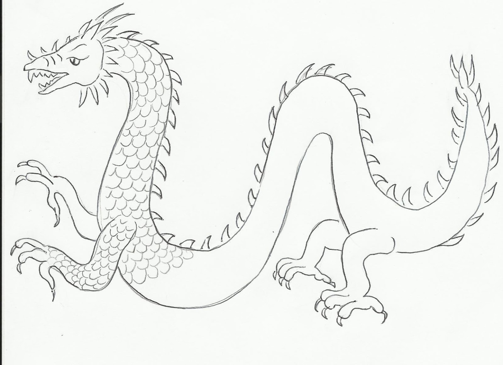 ... kb draw a dragon cached cacheddownload chinese cartoon chinese dragon Easy Chinese Dragon Sketch