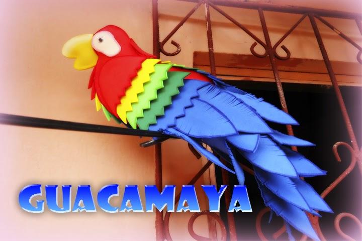 hola hoy les traigo una manualidad bien preciosa hecha de foamy goma eva la verdad que esta ave a mi me encanta por sus colores su y