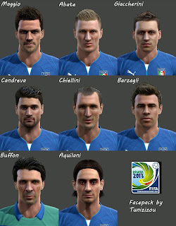 Italy Facepack - Confederation Cup 2013 by Tunizizou