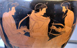 ancient Greek vase music lesson