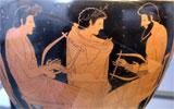 ancient Greek vase music lesson
