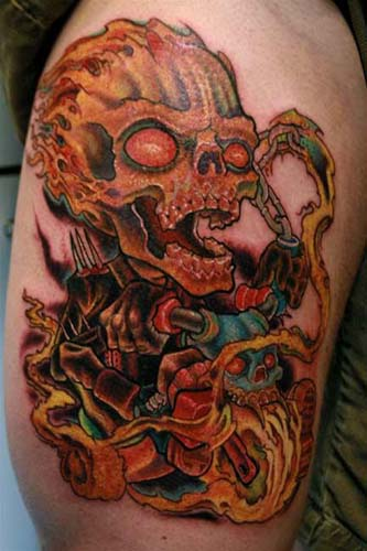 Motoblogn the i want a skeleton riding a motorcycle for Art of gunnar tattoo