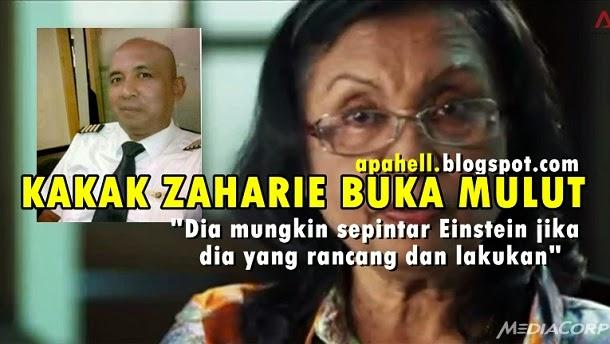 MH370 : Saat Kakak Kandung Kapten Zaharie Buka Mulut