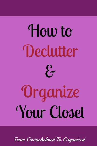 How to declutter and organize your closet from for How to organize your closet for free