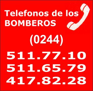 TELF DE LOS BOMBEROS