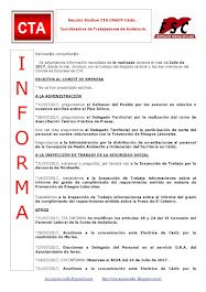 C.T.A. INFORMA, LO REALIZADO EN JUNIO 2017
