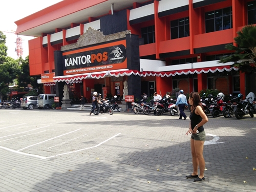 Kantor Pos Renon Denpasar is located at Jalan Raya Puputan