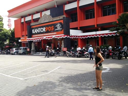 Kantor Pos Renon Denpasar is located at Jalan Raya Puputan