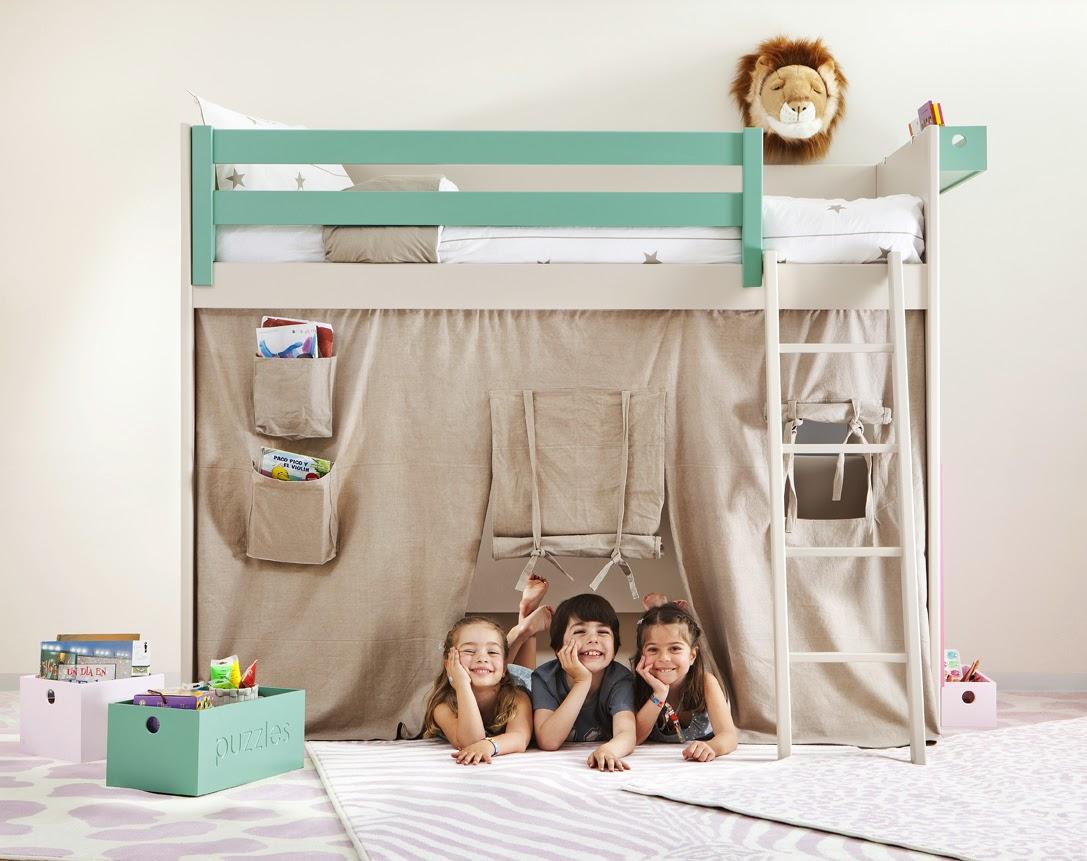 Camas altas juveniles - Habitaciones juveniles 2 camas ...