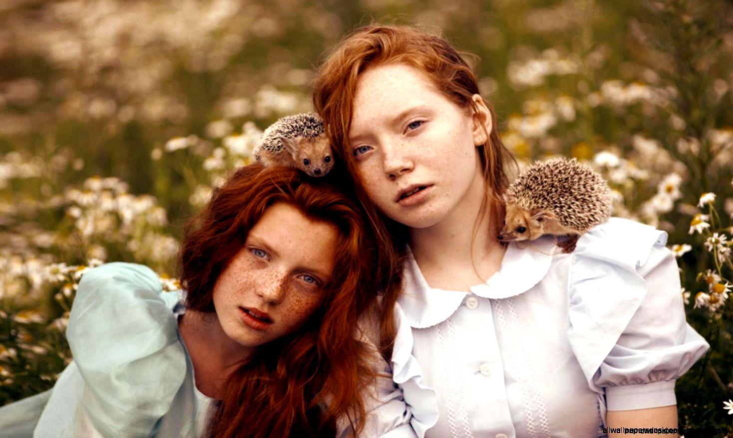 Redhead Girls Freckles Hedgehogs Mood Hd Wallpaper  HD Wallpapers