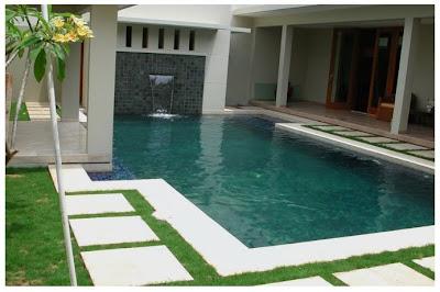 desain rumah ada kolam renang terbaru