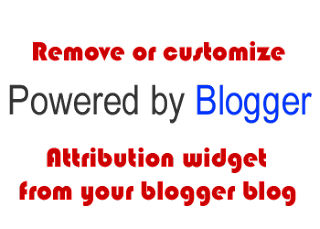 Remove blogger footer attribution