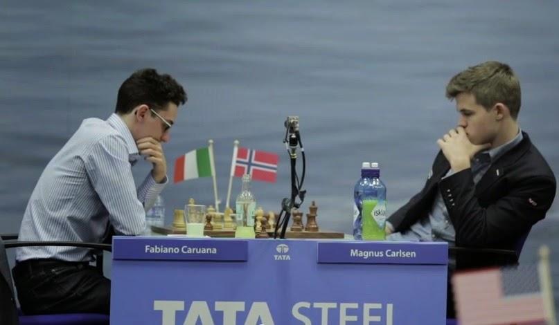 Echecs : le numéro 1 mondial Magnus Carlsen a battu le numéro 2 Fabiana Caruana - Photo © Alina L'Ami