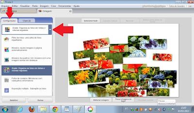 escolher grade - montagem de fotos