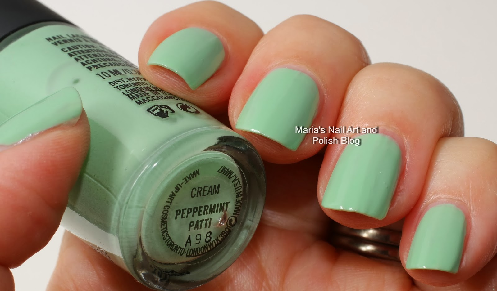 Marias Nail Art and Polish Blog: MAC Peppermint Patti swatches ...
