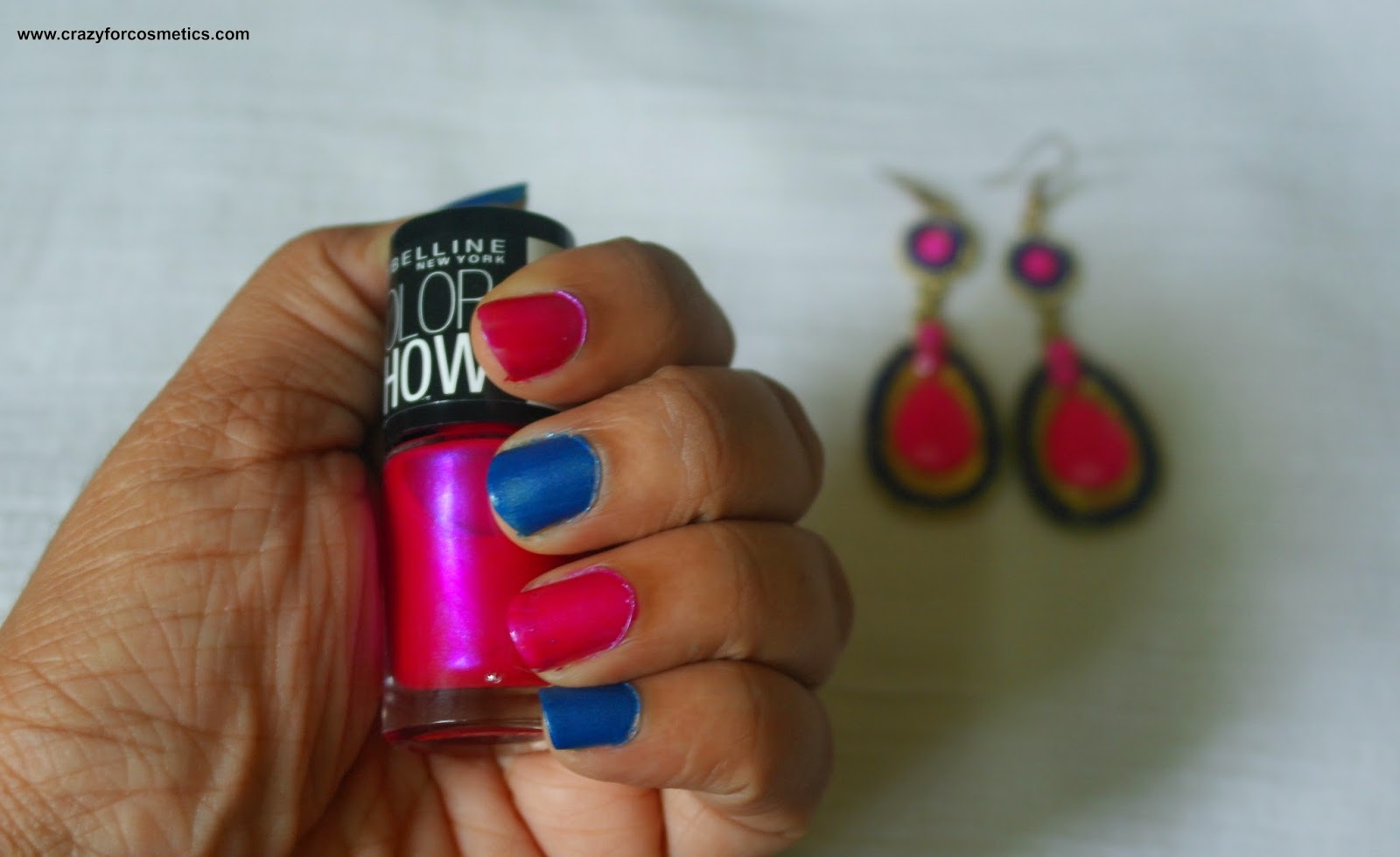 maybelline new york color show nail lacquer in denim dash swatch
