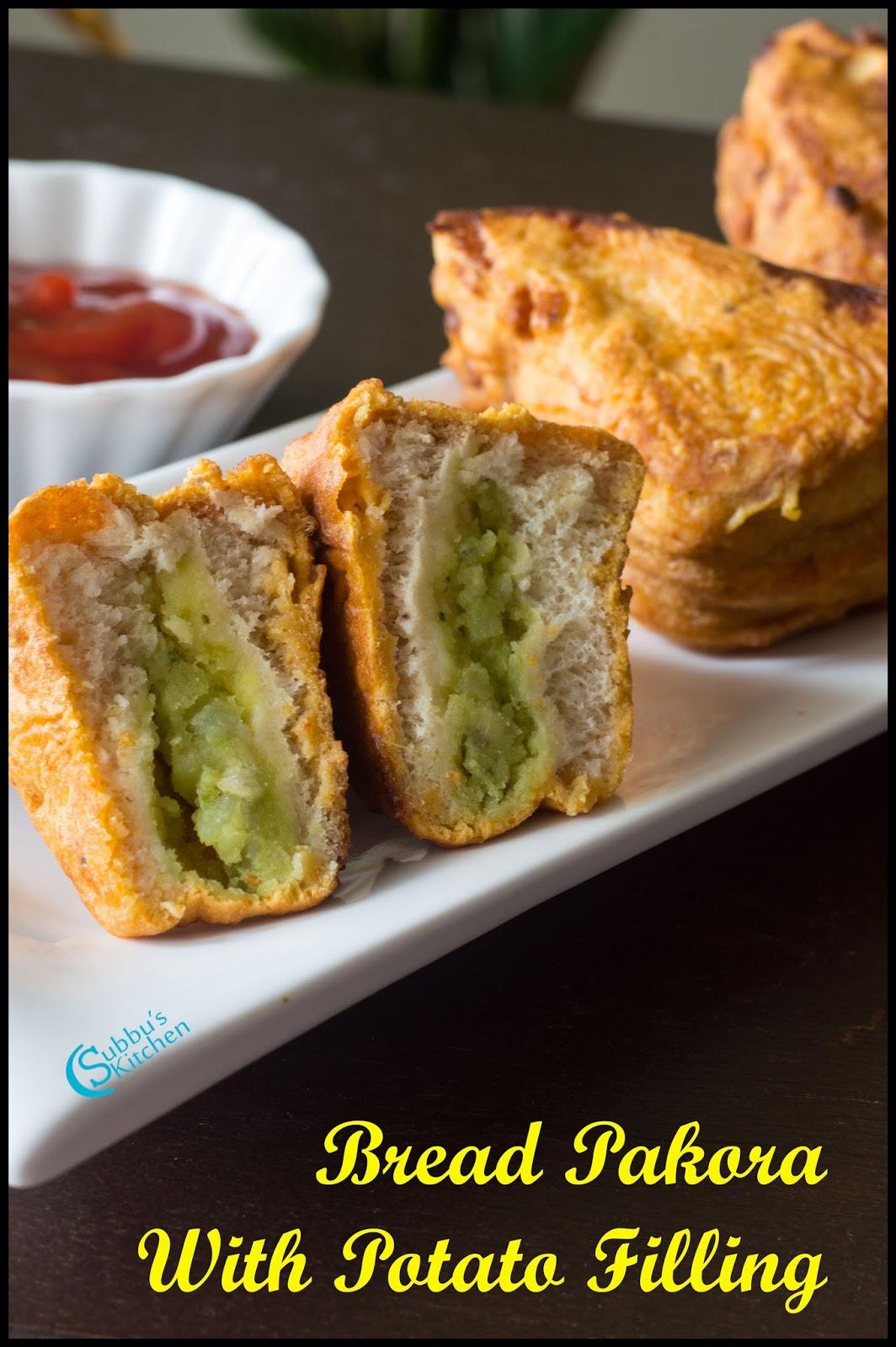 Bread pakora recipe aloo stuffed bread pakora bread bajji recipe