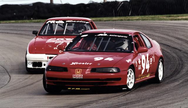 Honda Prelude IV, wyścigi, tor wyścigowy, rywalizacja, do sportu, VTEC is kicking in yo, FWD, racing, japoński sportowy samochód, znany, czerwona, red, od przodu